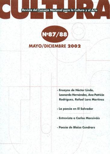 Imagen de Revista Cultura No.  87/88