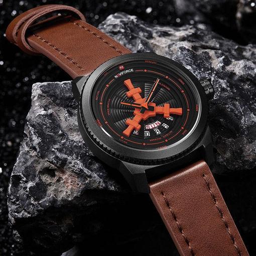 Imagen de Reloj naviforce brazalete de cuero