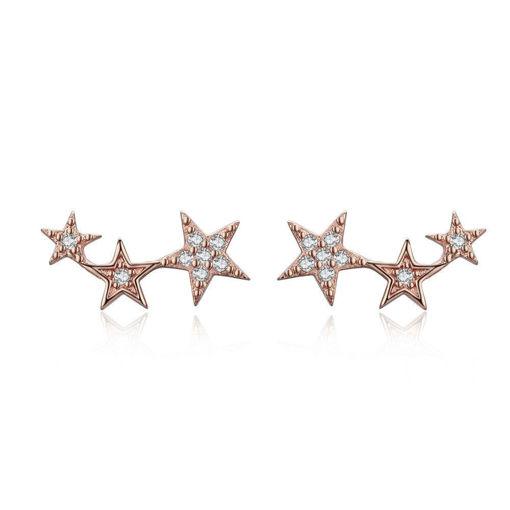 Imagen de Aritos de Plata 925 de Estrellas