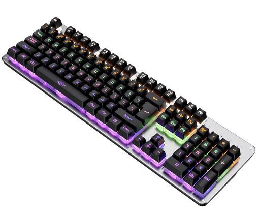 Imagen de Teclado gaming mecánico acero etouch