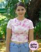 Imagen de Camiseta de tie dye rosa