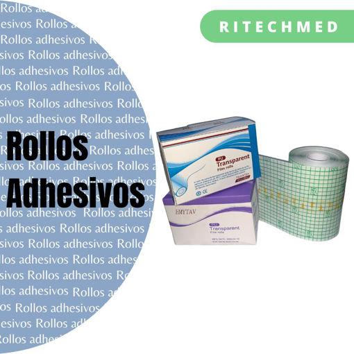 Imagen de Rollos de película adhesivos transparentes.
