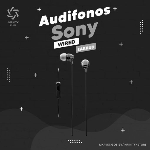 Imagen de Audífonos Sony - EX14AP Wired Earbud Headphones - Negros