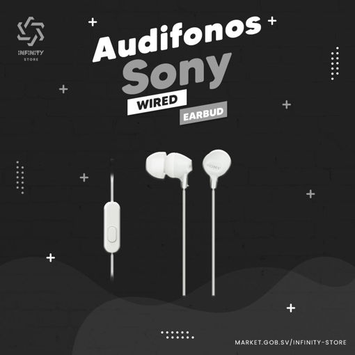 Imagen de Audífonos Sony - EX14AP Wired Earbud Headphones - Blancos