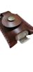 Imagen de Llavero porta alcohol gel de cuero genuino