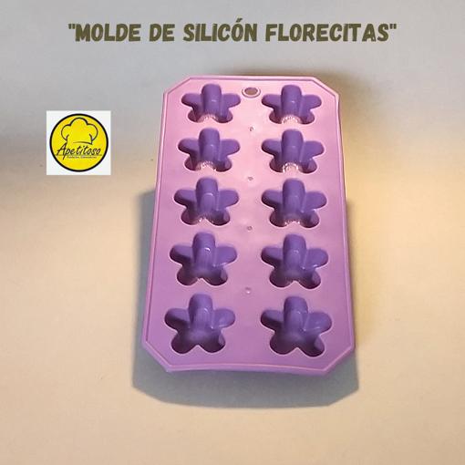 Imagen de Molde de Silicón Florecitas