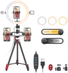 Imagen de Anillo de luz USB de 10.0 in con soporte y 3 soportes para teléfonos
