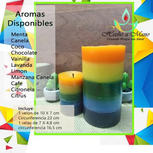Imagen de Vela colores (arcoíris)
